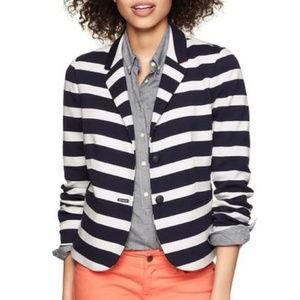 The Academy Blazer blue/white striped blazer